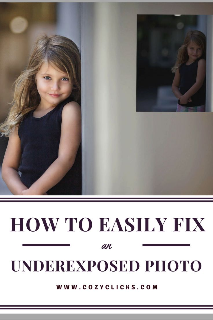Simple ways to fix a photo that was underexposed. Find out how by reading here!