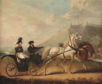 Cornelius Krieghoff Napoleon in a horse ridden carriage   Follow the biggest painting board on Pinterest: www.pinterest.com/atelierbeauvoir