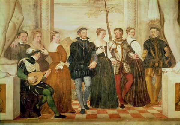 Джованни Антонио Фазоло Приглашение к танцу 1570 г.