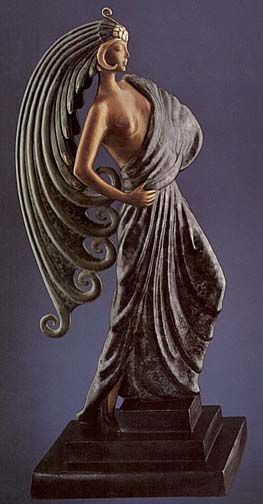 Erte Bronze - Beauty and the Beast