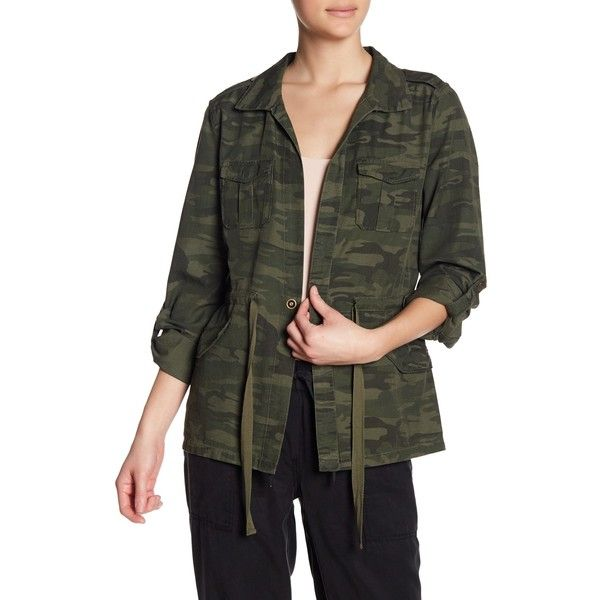 Sanctuary Lightweight Camo Field Jacket ($50) ❤ liked on Polyvore featuring outerwear, jackets, military field jacket, light weight jacket, field jackets, army jackets and lightweight camo jacket