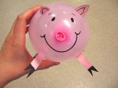 Hamm balloon pig craft - Toy Story theme