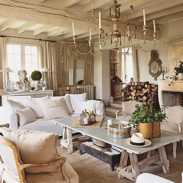 Sophie Lambert's purchase of a neglected estate just a short drive from Paris led to an intensive restoration. Today, it is filled with the Gustavian style she favors and serves as a hub for her antiques business. Link in profile for full tour! | Styling: @marie_paule_faure | Photography: Louis Gaillard . . . #france #french #frenchstyle #parisian #charm #antiques #style #gustavian #elegant #elegance #rustic #frenchcountry #cottage #home #interior #decor #decorate #refined