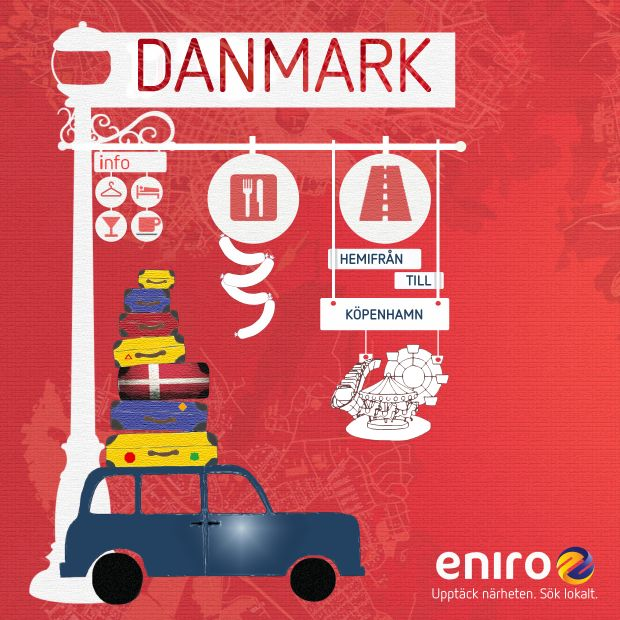 Ska du upptäcka Danmark i sommar? Eniroappen fungerar även i Danmark. Det är bara att söka, och du skall finna.
