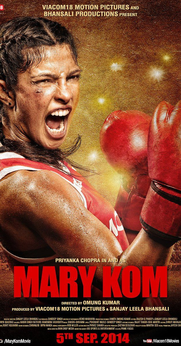Directed by Omung Kumar.  With Robin Das, Priyanka Chopra, Zachary Coffin, Shubham Gaur. A chronicle of the life of Indian boxer Mary Kom, who went through several hardships before audaciously accomplishing her ultimate dream.