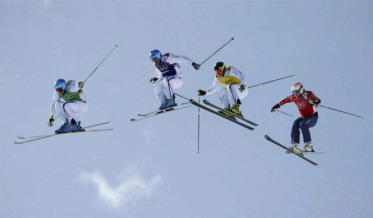 Soaring to Victory: France Sweeps Ski Cross Final (Photo: Dominic Ebenbichler / Reuters)