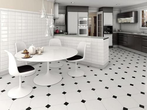 Download black and white floor tile kitchen