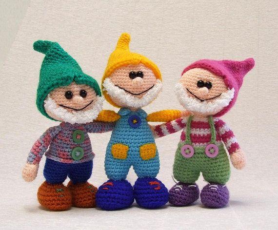 Amigurumi Disney Livre : Gnome - amigurumi PDF crochet pattern Ganchillo, Too ...