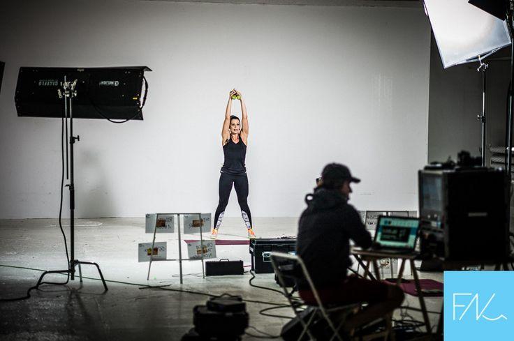 Lidia Zamyłko backstage nagrania treningu Total Body Makeover