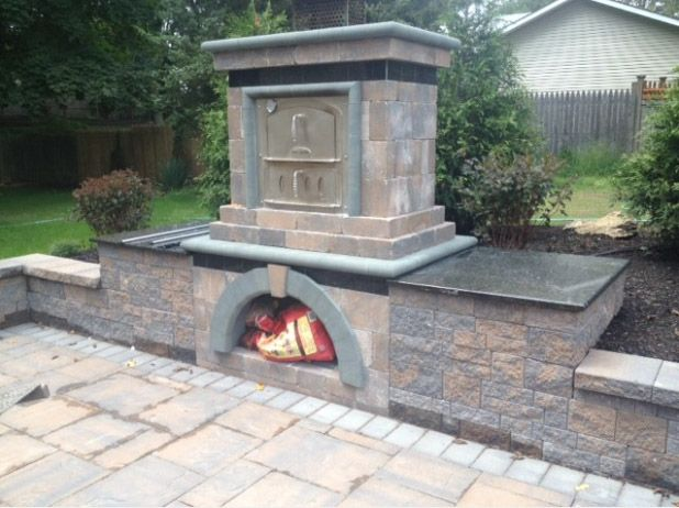 1000 images about cambridge on houzz on pinterest fire for Precast concrete outdoor fireplace kits
