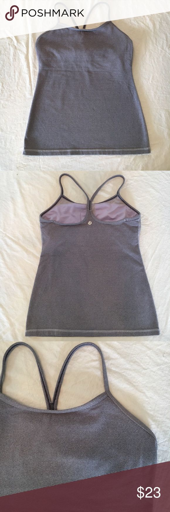"""LULULEMON PURPLE CAMI YOGA FITNESS TOP SZ 6 LULULEMON purple yoga fitness top. Pre owned, gently worn and in very good condition. No stains, rips, holes or odors. Smoke free home and environment. Size is 6. Measurements: Armpit to armpit fat and side to side:15"""" length from top of strap to bottom of top:  23"""" lululemon athletica Tops Tank Tops"""