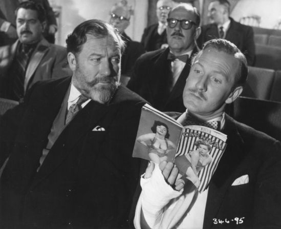 "James Robertson Justice & Leslie Phillips. Two of the great stalwarts of British comedy films in the 50s. Leslie Philips'womanising, decadent caddish characters, with his ""Ding dong"", were possibly even more loved tha the cads played by Terry Thomas"