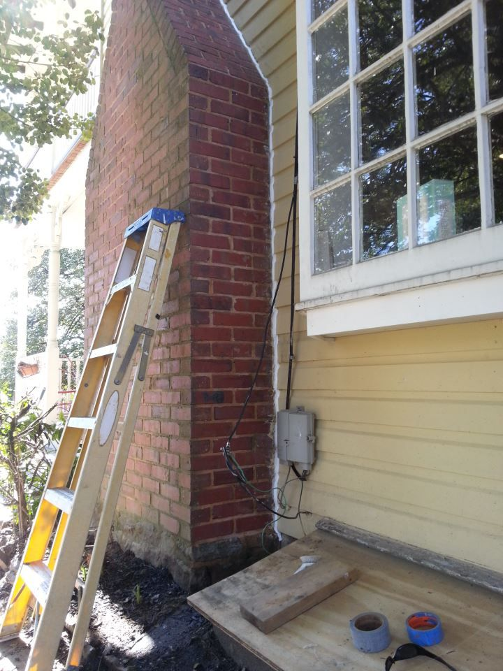caulking wood siding at a chimney caulk exteriors