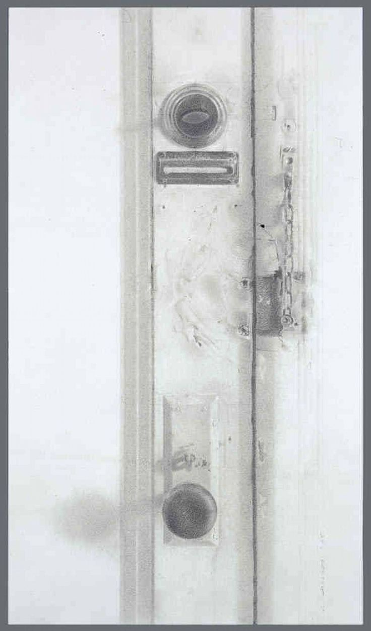Door pencil drawing - Door Jersey City Drawing By Christopher Gallego