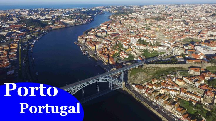 Porto, Portugal  (4K, Ultra HD aerial view)