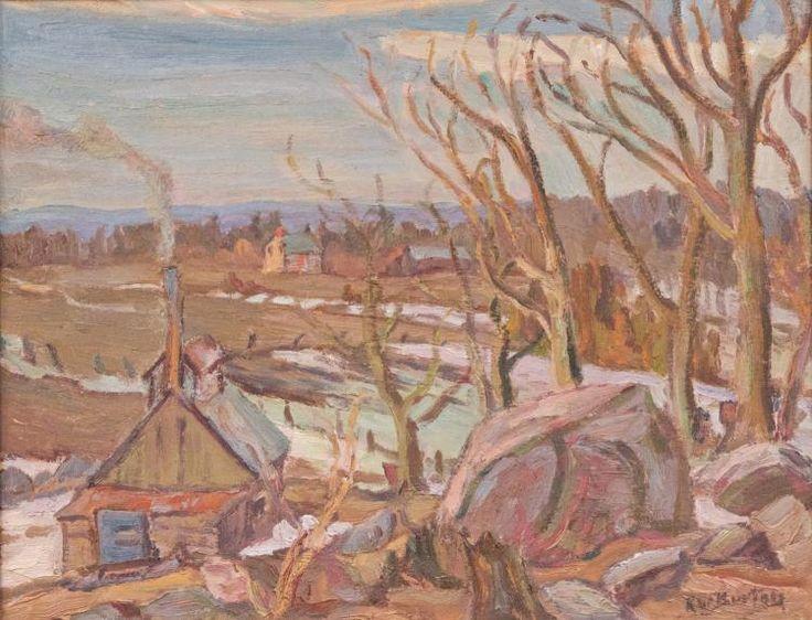 Ralph Wallace Burton - Sugar Shanty Near Brownsboro Quebec 10.5 x 13.5 Oil on panel