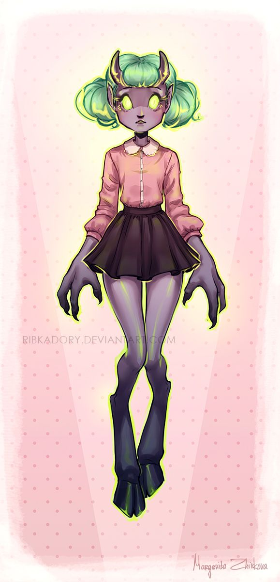 Demon Girl by ribkaDory on DeviantArt