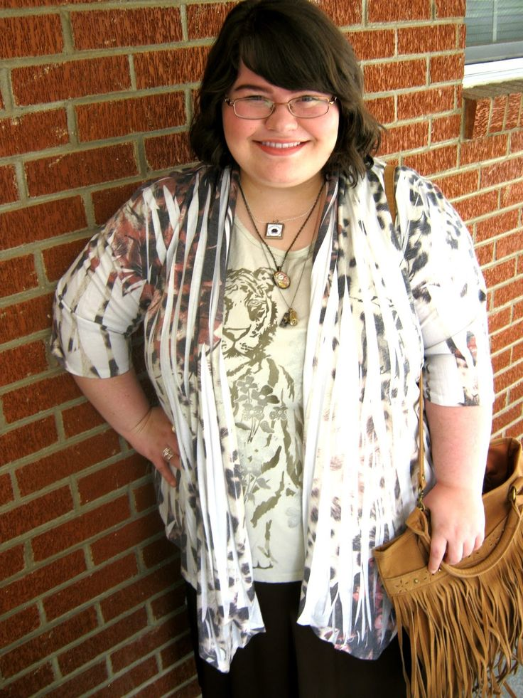 Unique Geek: Plus Size OOTD: Leopard & Fringe: