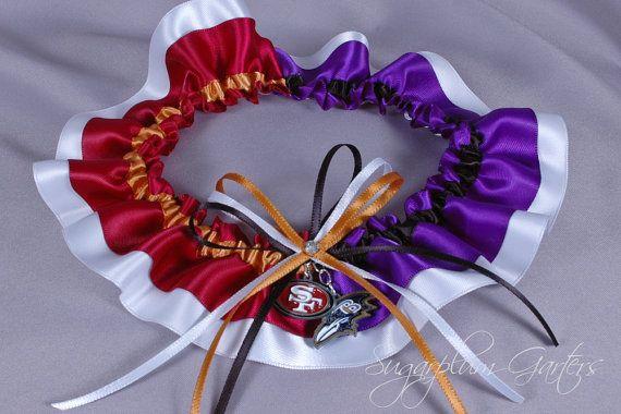 Custom Superbowl XLVII San Francisco 49ers vs Baltimore Ravens Rival Garter