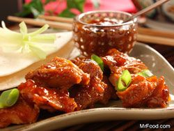 PEKING CHICKEN: From Mr.Food.Com ~ his easy version of a classic Chinese dish is short on work but long on taste. Pass out the chopsticks and enjoy homemade Peking Chicken. Yes, the flavors of Asia are as close as our own kitchens! Serves: 6 Read more at http://www.mrfood.com/Chicken/Peking-Chicken#getd5gIjodstVqpm.99