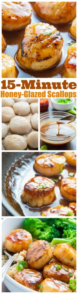 Honey-Glazed Scallops are ready in just 15 minutes!