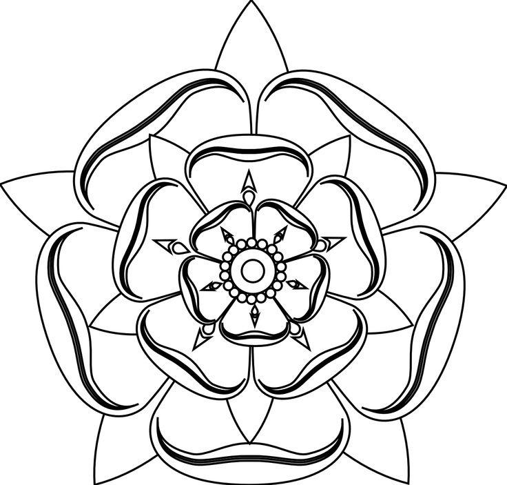 <b>Tudor</b> <b>rose</b> line <b>drawing</b> | Tattoo | Pinterest
