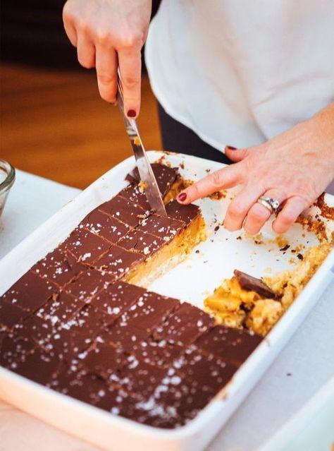 Recette de carrés au chocolat et au caramel de Ricardo