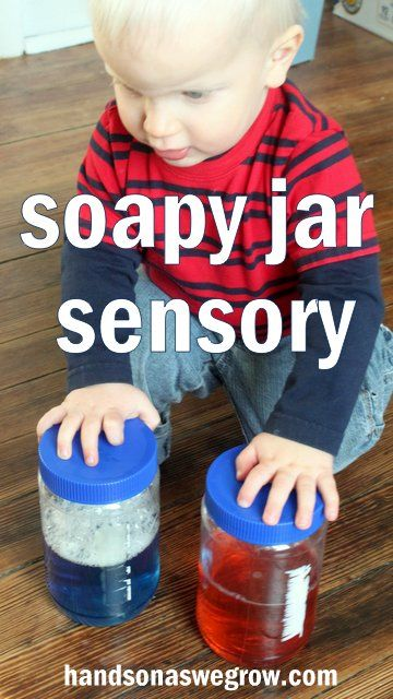 soapy jar sensory activity for toddlers