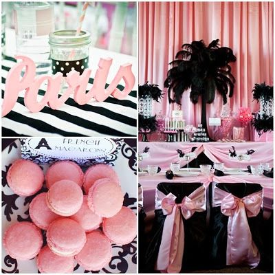 Parisian Party / A Night in Paris Sweet Fifteen Theme