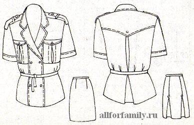 женский костюм (блуза и юбка), который можно сшить своими руками