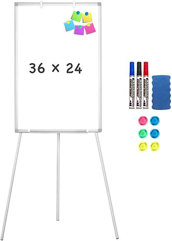 Amazon Com Easel Whiteboard Magnetic Portable Dry Erase Easel Board 36 X 24 Tripod Whiteboard Height Adjustable In 2020 Magnetic White Board White Board Dry Erase
