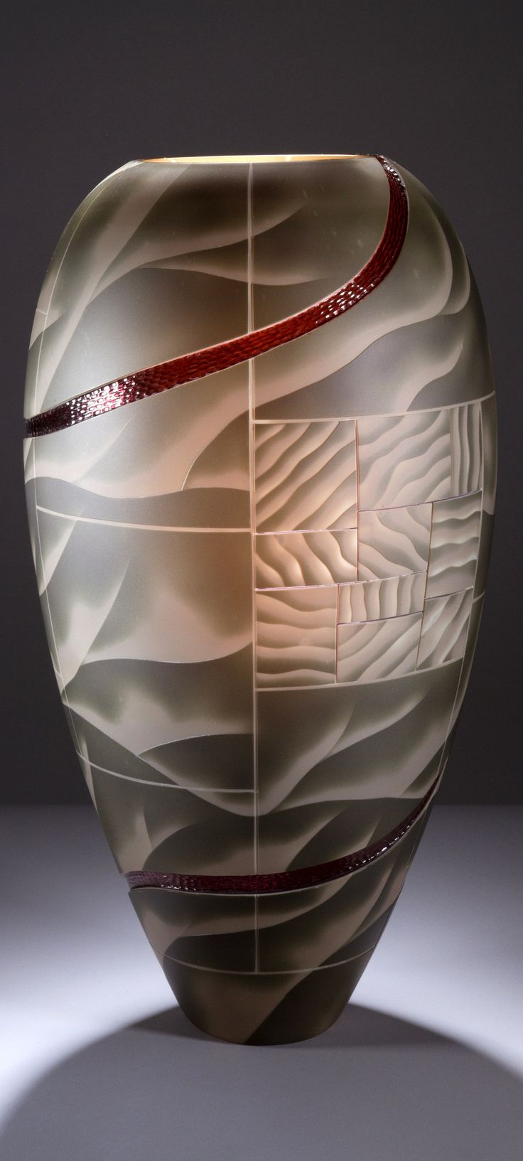 Kevin Gordon Art-Glass  Sculptural Vessel♥♥