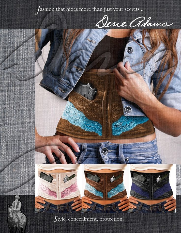 Conceal and carry corset by Dene Adams - yes please.