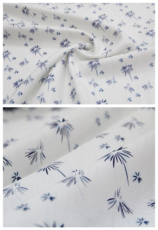 CE14-linnen stof paardebloem afdrukken kleding weefsel voor