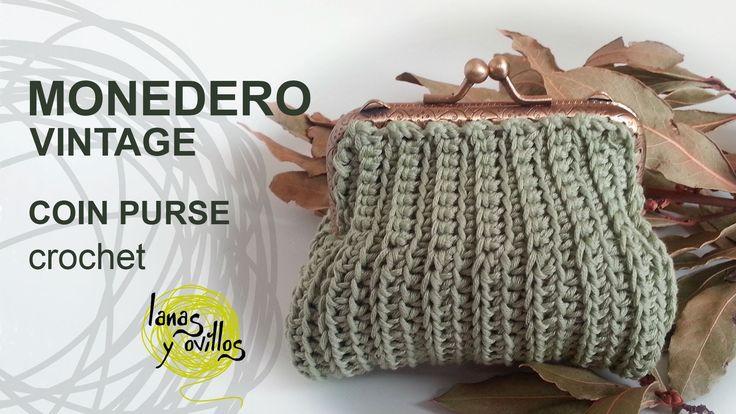 Tutorial Monedero Crochet o Ganchillo Vintage Quadrado