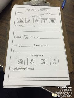Choice daily log for parents.  My log can have the correct answers.  Make one to use daily at home.  Have another for what they did at home the night before to keep at school.