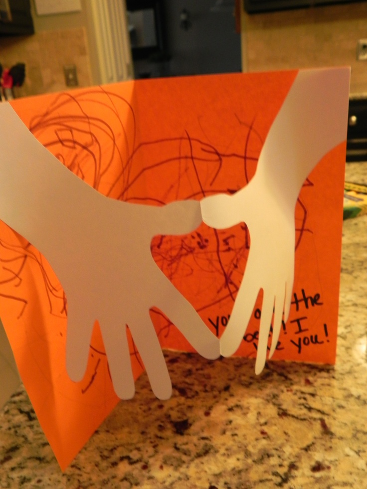 Homemade Hands of Love Card for Father's Day, Christmas, a birthday, etc. Great for little kids to do!
