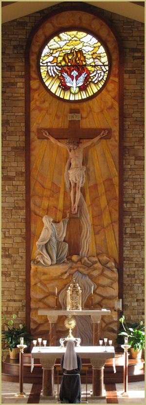 relief in Father of Mercy Chapel :: Franciscan Sisters of Penance of the Sorrowful Mother