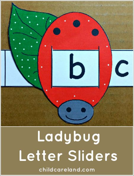 This week's free printable is Ladybug Letter Sliders which ...