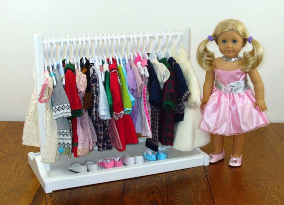 This Beautiful Handcrafted Doll Clothes Rack Is Designed To Hang Your American