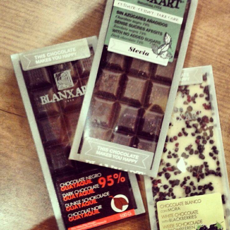 Chocolate con Stevia, y negro 95% de cacao