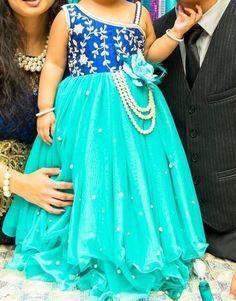 Half Shoulder Long Frock - Indian Dresses