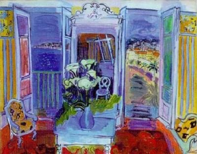 Raoul Dufy: Raoul Dufy, Artists Interiors, Raul Dufy, Window Open, Art Interiors, Window 1928, Raoul Duffi, Painting, Open Window