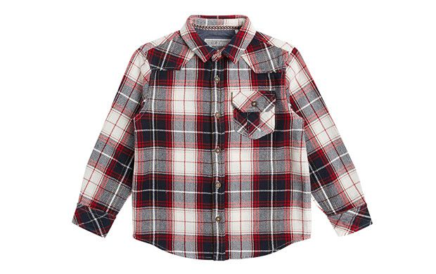 "Checked Flannel Shirt. ""When the weather starts to cool he'll love this cosy checked flannel shirt."""