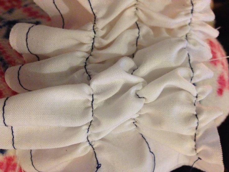 Ruffle, textiles techniques.