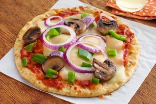 Quick Pita Pizzas , this looks good or add what your taste buds would like