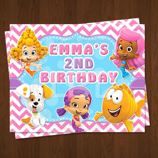 Bubble Guppies Party Sign, Bubble Guppies Birthday Decorations, Bubble Guppies Party Printables - Style 2 - YOU PRINT by lovebuggydesigns on Etsy https://www.etsy.com/listing/169730546/bubble-guppies-party-sign-bubble-guppies