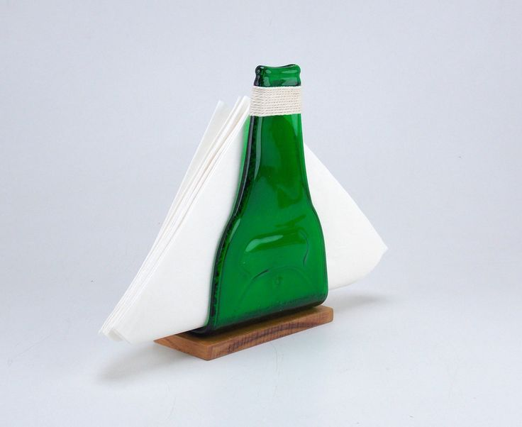 Bottle Napkin Holder-Napkin Holders-Slumped bottle-Table Decor-Kitchen Decor-Fused bottle-Home & living-Kitchen storage-Kitchen decor by BottlesAndOthers on Etsy