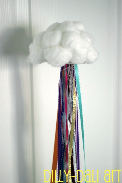 how to make clouds with cotton