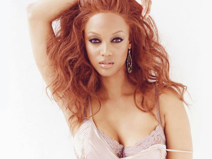 Tyra Banks ...... She first became famous as a model, appearing twice on the cover of the Sports Illustrated Swimsuit Issue and working for Victoria's Secret as one of their original Angels.